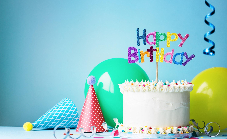 Прикольные про, открытка с днем рождения шары торт