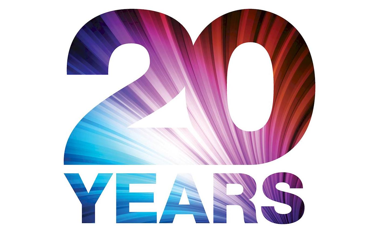 Открытка с 20 летием фирмы
